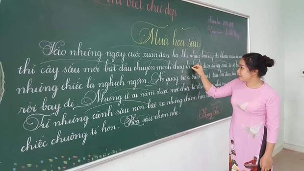Khi giáo viên tiểu học đi thi viết chữ đẹp: Không máy in hay font chữ xịn sò nào có thể sánh ngang với bàn tay cô giáo! - Ảnh 10.