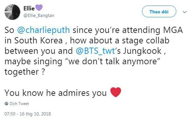 Charlie Puth tham gia lễ trao giải của MBC, fan kêu gào màn hợp tác We Don't Talk Anymore với Jungkook (BTS) - Ảnh 4.