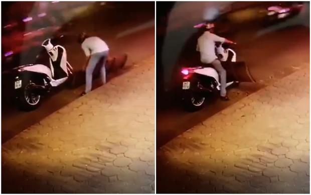 Hà Nội: Thanh niên bảnh bao đi SH bê trộm chiếc cầu dắt xe vừa to vừa nặng giữa đường - Ảnh 2.