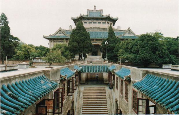 Mê mệt với vẻ đẹp tựa tranh vẽ của ngôi trường được mệnh dành là Đại học hoa anh đào ở Trung Quốc - Ảnh 1.
