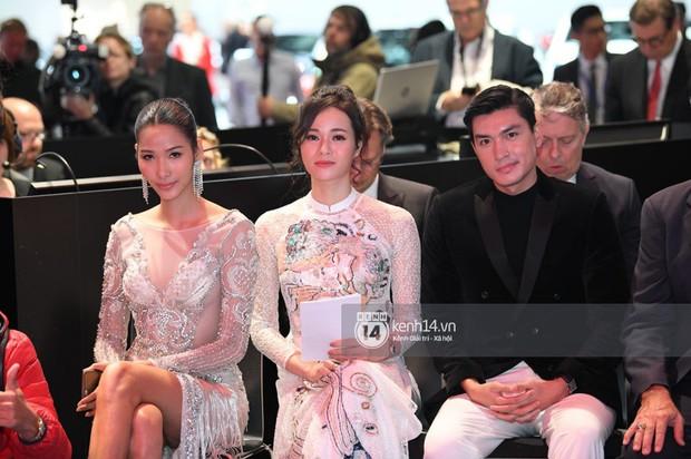 Hoàng Thùy diện váy lộng lẫy, Quang Đại điển trai tại sự kiện ra mắt xe của VINFAST tại Paris Motor Show - Ảnh 4.