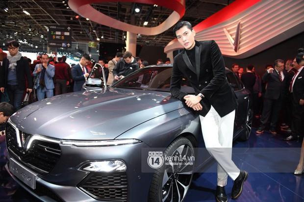 Hoàng Thùy diện váy lộng lẫy, Quang Đại điển trai tại sự kiện ra mắt xe của VINFAST tại Paris Motor Show - Ảnh 9.