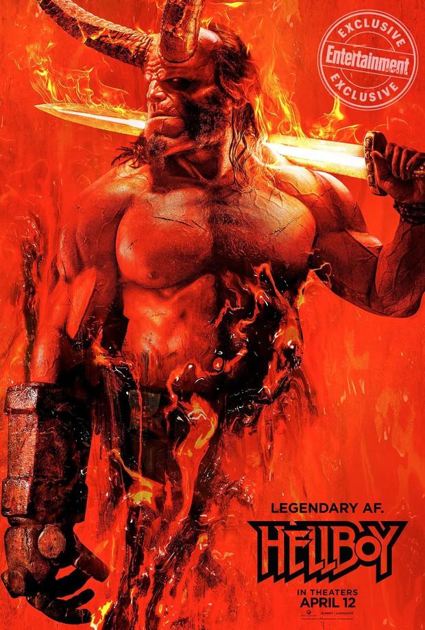 Tung poster cực nóng, Hellboy hứa hẹn thiêu đốt màn ảnh vào năm 2019 - Ảnh 1.