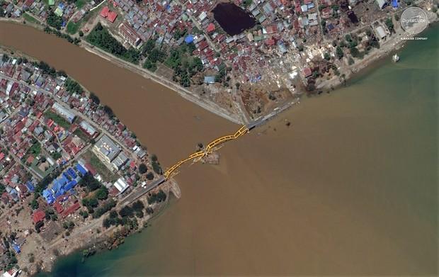 Bộ ảnh trước - sau này sẽ cho bạn thấy trận động đất khiến ít nhất 1.200 người chết ở Palu, Indonesia khủng khiếp như thế nào - Ảnh 7.