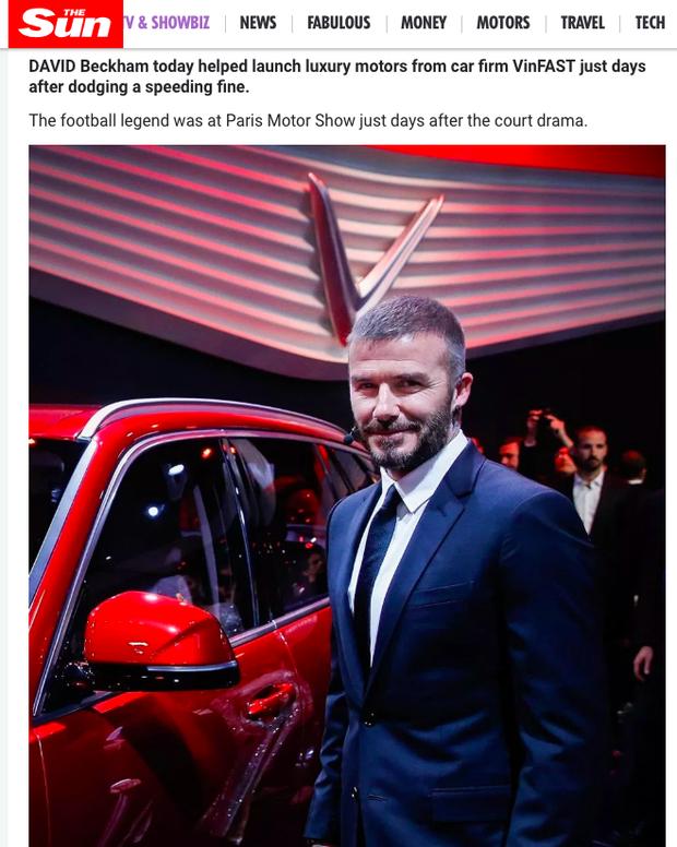 Hàng loạt báo quốc tế đăng tin rầm rộ về màn xuất hiện của David Beckham tại sự kiện ra mắt VINFAST - Ảnh 4.