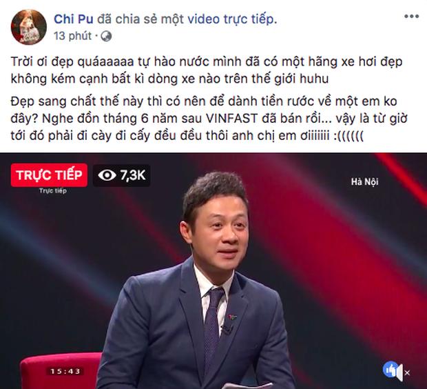 VINFAST ra mắt, Chi Pu, Soobin Hoàng Sơn đồng loạt chia sẻ livestream  - Ảnh 2.