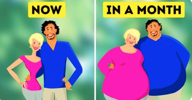Các cặp đôi càng yêu nhau thì càng dễ béo lên - sự thật đã được khoa học chứng minh - Ảnh 2.
