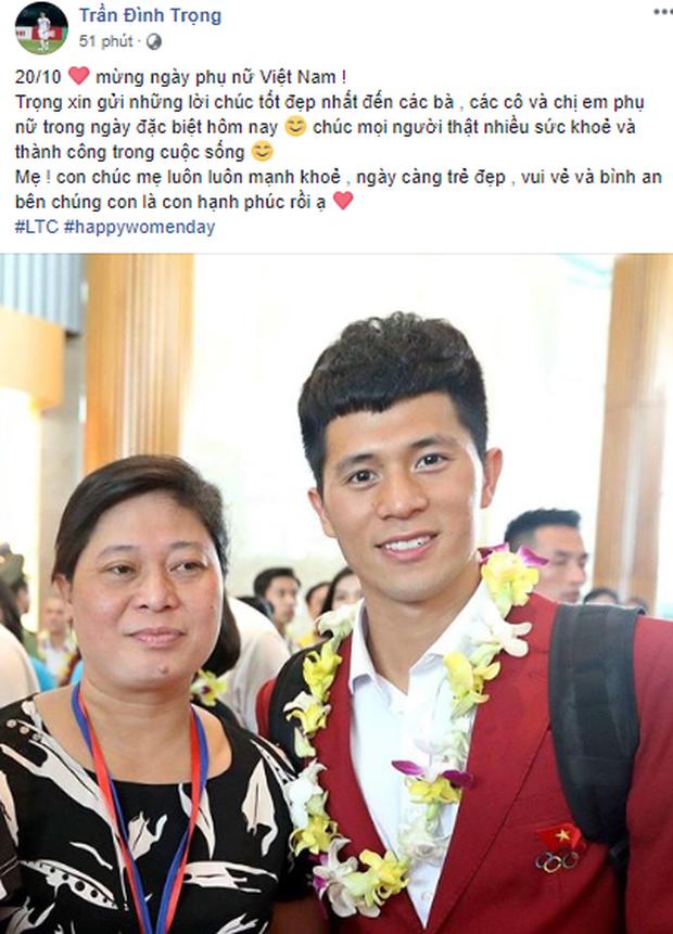 Từ Hàn Quốc, Quang Hải, Đình Trọng và dàn sao Đội tuyển Việt Nam gửi lời yêu thương đến những người phụ nữ của mình - Ảnh 2.
