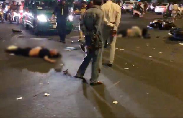 Nóng: Nữ tài xế điều khiển xe BMW gây tai nạn kinh hoàng, người bị thương nằm la liệt giữa ngã tư Hàng Xanh - Ảnh 5.