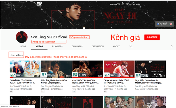 Sự thật về tài khoản được được cho là của Sơn Tùng chúc mừng MV Những kẻ mộng mơ (Noo Phước Thịnh) trên Youtube - Ảnh 1.