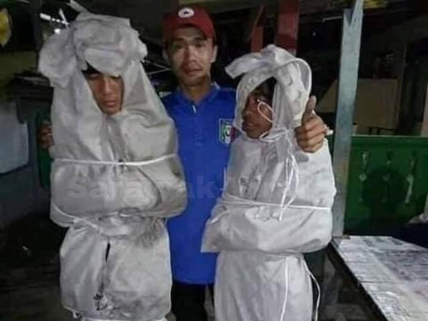 Giả ma dọa dân làng, 2 thanh niên vừa bị bắt ra nghĩa trang nằm ngủ cả đêm cho chừa thói đùa dai - Ảnh 2.