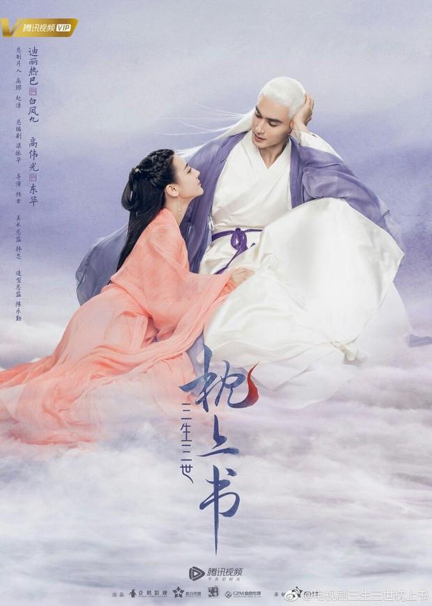 Cao Vỹ Quang ôm ấp tình tứ Địch Lệ Nhiệt Ba ở phim trường Tam Sinh Tam Thế: Chẩm Thượng Thư - Ảnh 1.