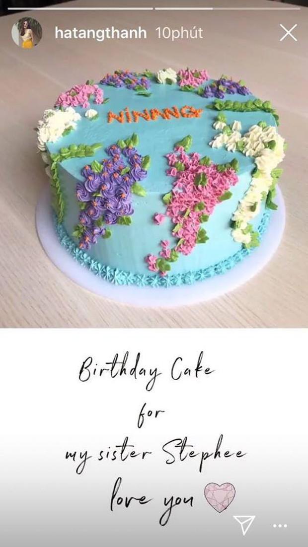 Sau khi nấu đồ ở cữ, Tăng Thanh Hà tiếp tục tự tay làm bánh sinh nhật tặng chị chồng - Ảnh 2.
