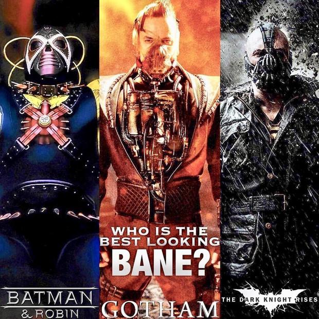 Tạo hình ác nhân Bane bản truyền hình bị chê kém sang, thua xa Tom Hardy của The Dark Knight Rises - Ảnh 3.