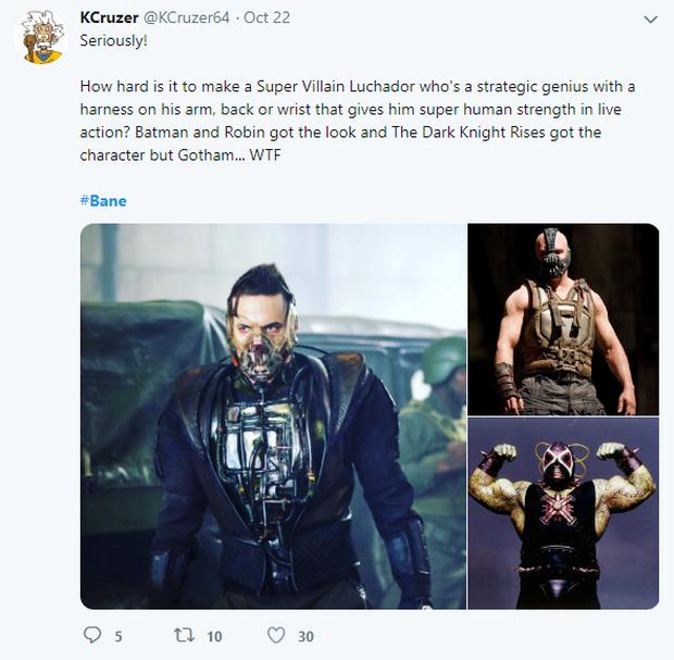 Tạo hình ác nhân Bane bản truyền hình bị chê kém sang, thua xa Tom Hardy của The Dark Knight Rises - Ảnh 7.