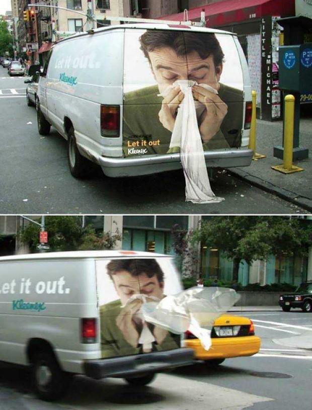 Những biển quảng cáo đường phố xứng đáng được gọi là tác phẩm nghệ thuật sắp đặt - Ảnh 10.