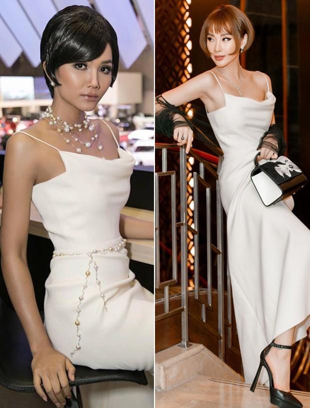 Tóc đều ngắn và váy đều đẹp, thế nhưng HHen Niê lại dưới cơ Angela Phương Trinh hoàn toàn khi đụng hàng - Ảnh 5.