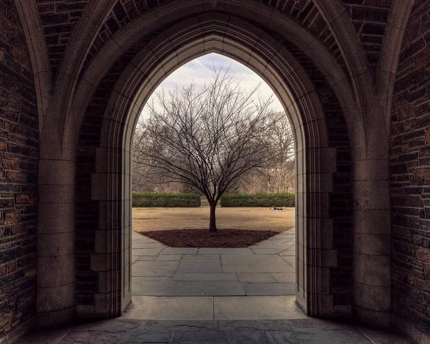 Đã mắt ngắm ngôi trường Đại học đẹp như lâu đài cổ tích dưới trời tuyết trắng xóa - Ảnh 1.