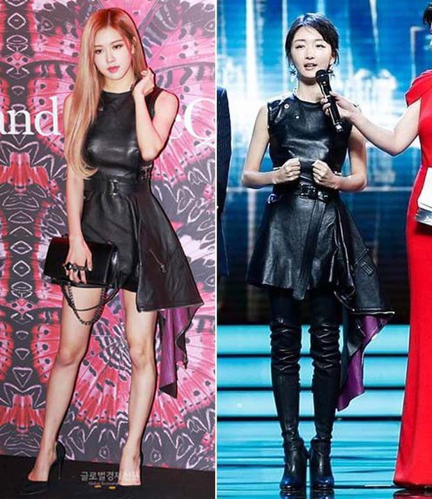 Cùng diện váy da: Rosé (Black Pink) xinh nhưng nhạt, Châu Đông Vũ lại mất công thêm thắt cho cá tính - Ảnh 7.