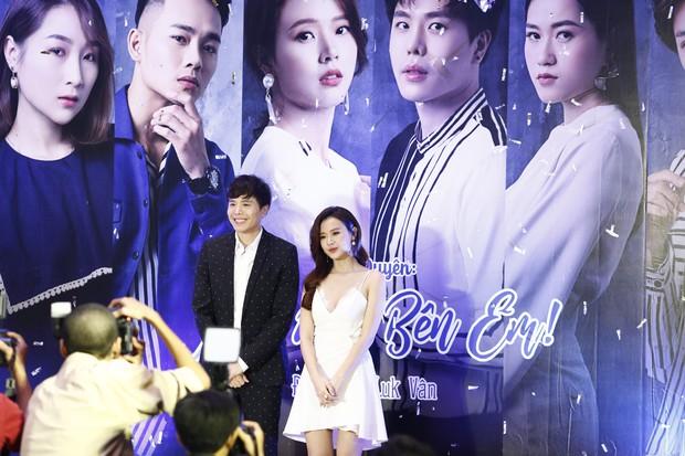 Midu đẹp rạng rỡ bên Trịnh Thăng Bình tại họp báo ra mắt dự án phim đầu tay do MC Quỳnh Chi sản xuất - Ảnh 4.