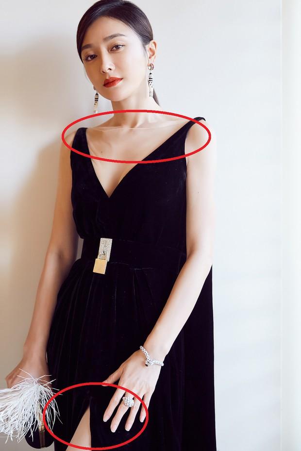 Vẫn với thói quen khâu váy cho bớt sexy, Tần Lam từ nữ thần hóa mỹ nhân chỉ trong 1 buổi tối - Ảnh 7.