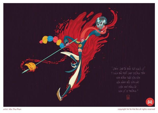 """Cuộc tranh giành """"gió tanh mưa máu"""" của những họa sĩ 20 tuổi để được vẽ về hát bội - Ảnh 4."""