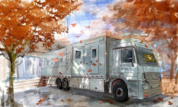 Bộ tranh mùa thu đẹp lãng mạn đến xiêu lòng về ngôi trường được xem là lò đào tạo minh tinh hàng đầu Châu Á - Ảnh 4.