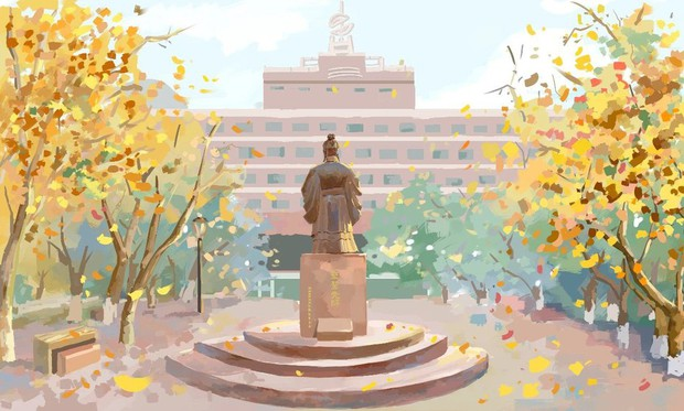 Bộ tranh mùa thu đẹp lãng mạn đến xiêu lòng về ngôi trường được xem là lò đào tạo minh tinh hàng đầu Châu Á - Ảnh 5.