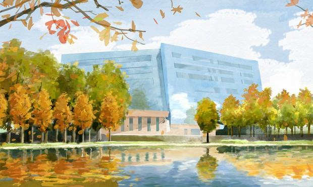 Bộ tranh mùa thu đẹp lãng mạn đến xiêu lòng về ngôi trường được xem là lò đào tạo minh tinh hàng đầu Châu Á - Ảnh 1.