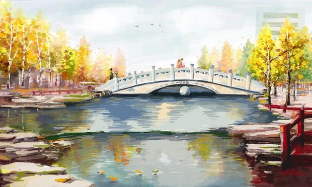 Bộ tranh mùa thu đẹp lãng mạn đến xiêu lòng về ngôi trường được xem là lò đào tạo minh tinh hàng đầu Châu Á - Ảnh 9.
