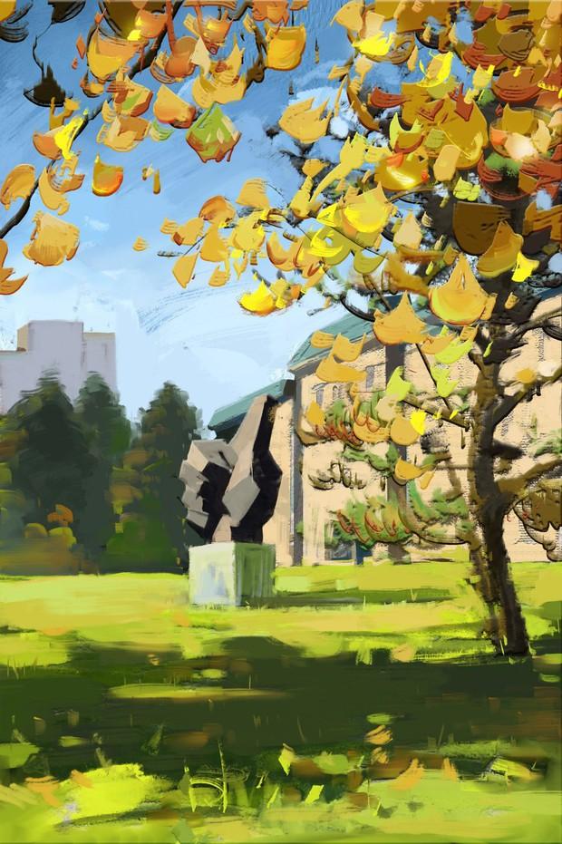 Bộ tranh mùa thu đẹp lãng mạn đến xiêu lòng về ngôi trường được xem là lò đào tạo minh tinh hàng đầu Châu Á - Ảnh 11.