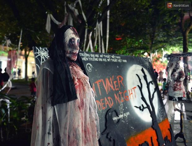 Màn hóa trang Halloween kinh dị nhất tại Đại học Mỹ Thuật Việt Nam- Ảnh 6.