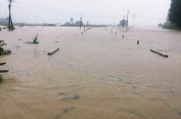 Bình Định: Mưa lớn 2 ngày liên tục khiến nước lũ lên nhanh, nhiều nhà dân bị cô lập - Ảnh 4.