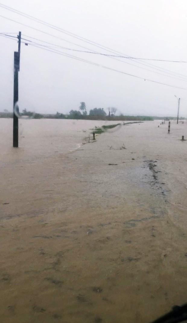 Bình Định: Mưa lớn 2 ngày liên tục khiến nước lũ lên nhanh, nhiều nhà dân bị cô lập - Ảnh 3.