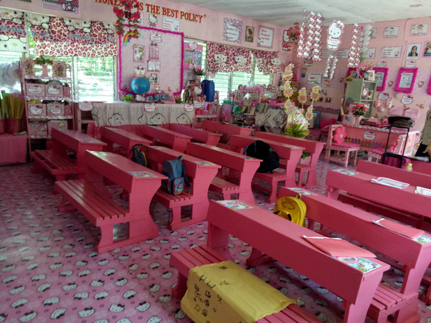 Cô giáo đáng yêu nhất quả đất: Dành 3 năm biến lớp học cũ kỹ thành căn phòng rợp màu hồng Hello Kitty - Ảnh 2.