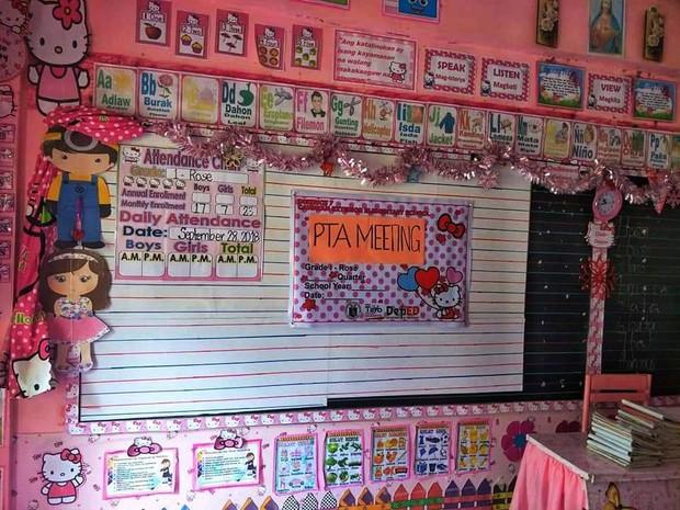 Cô giáo đáng yêu nhất quả đất: Dành 3 năm biến lớp học cũ kỹ thành căn phòng rợp màu hồng Hello Kitty - Ảnh 10.