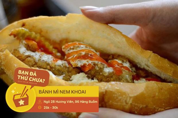 Ai mà nghĩ có ngày những món ăn vặt quen thuộc ở Hà Nội lại trở thành phần nhân độc lạ trong chiếc bánh mì - Ảnh 2.