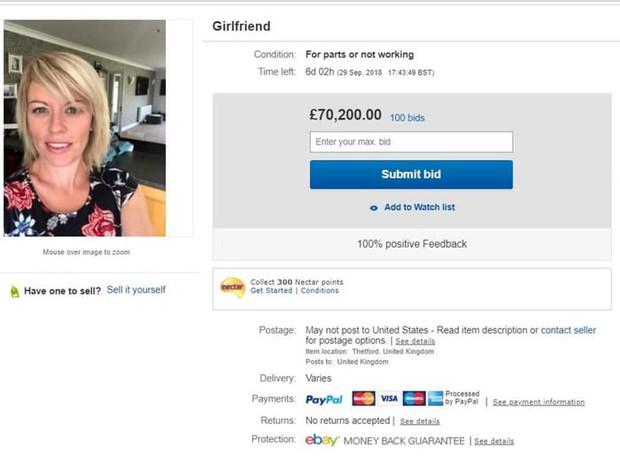 Thanh niên liệt bạn gái vào mục Hàng second-hand rồi đăng bán đấu giá trên eBay, nhận được mức tiền cao bất ngờ ngay sau đó - Ảnh 2.