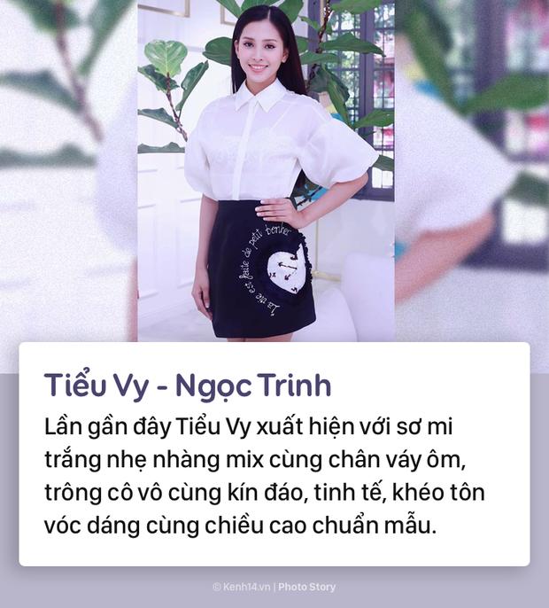 Hoa hậu Tiểu Vy và những pha đụng hàng với cả showbiz Việt - Ảnh 1.