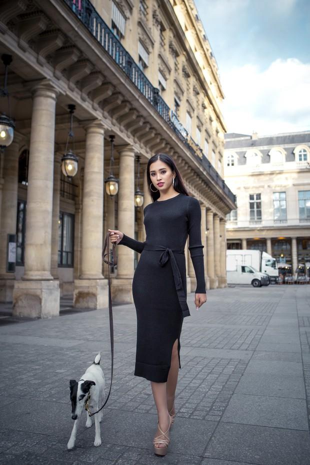 Hoa hậu Tiểu Vy gây dậy sóng MXH với thần thái đầy sắc sảo và thu hút trong bộ ảnh chụp tại Pháp - Ảnh 4.