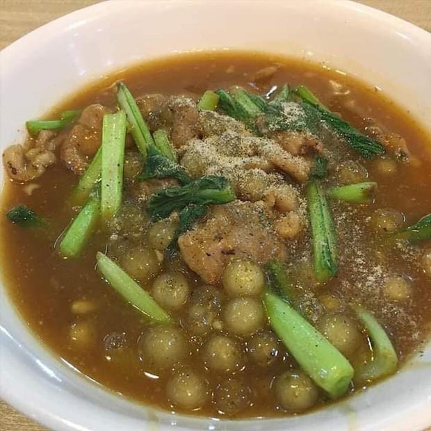 Mâm cơm 3 món dành cho con nghiện trà sữa: Trân châu chiên trứng, trân châu xào thịt bò và canh rau cải trân châu - Ảnh 3.