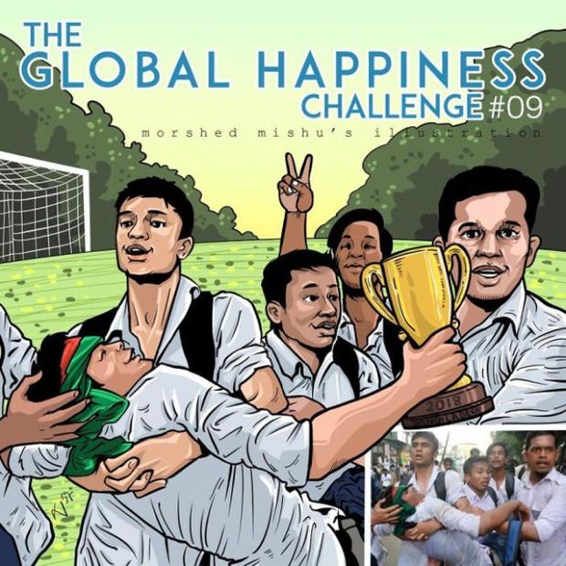 Họa sĩ Bangladesh biến những khoảnh khắc đau thương do chiến tranh thành những tác phẩm ngập tràn hạnh phúc - Ảnh 18.