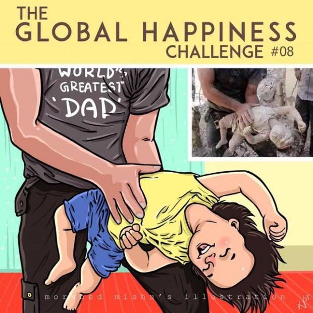 Họa sĩ Bangladesh biến những khoảnh khắc đau thương do chiến tranh thành những tác phẩm ngập tràn hạnh phúc - Ảnh 16.