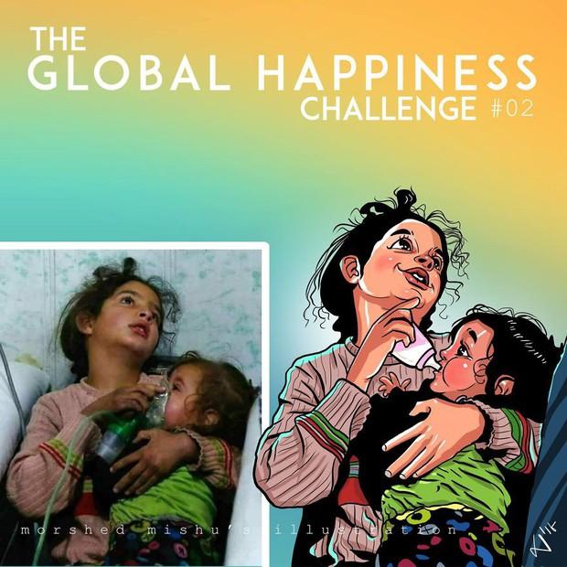 Họa sĩ Bangladesh biến những khoảnh khắc đau thương do chiến tranh thành những tác phẩm ngập tràn hạnh phúc - Ảnh 4.
