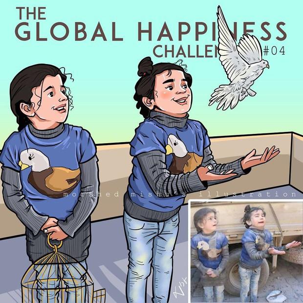 Họa sĩ Bangladesh biến những khoảnh khắc đau thương do chiến tranh thành những tác phẩm ngập tràn hạnh phúc - Ảnh 8.