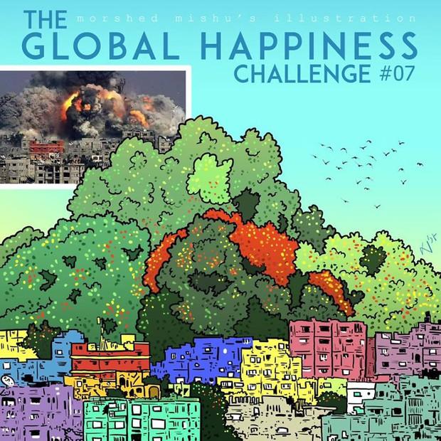 Họa sĩ Bangladesh biến những khoảnh khắc đau thương do chiến tranh thành những tác phẩm ngập tràn hạnh phúc - Ảnh 14.