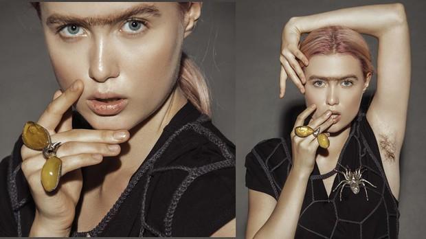 Next Top Ukraine: Quảng cáo trang sức nhưng lại bắt thí sinh khoe... vùng cánh rậm rạp - Ảnh 2.
