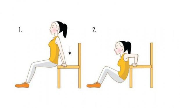 Bắp tay nhỏ gọn lại rõ rệt nếu thực hiện 4 động tác đơn giản sau đây thường xuyên - Ảnh 1.