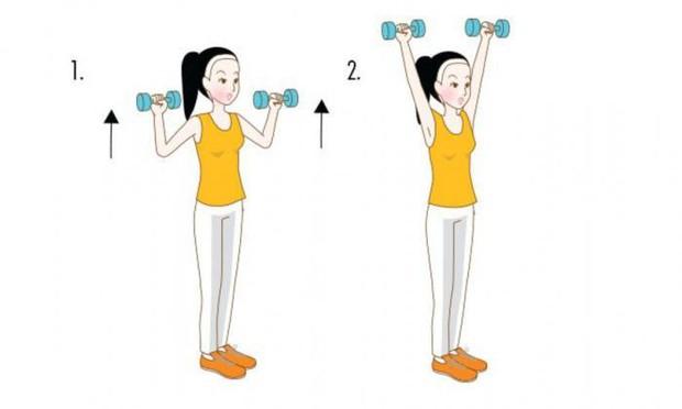 Bắp tay nhỏ gọn lại rõ rệt nếu thực hiện 4 động tác đơn giản sau đây thường xuyên - Ảnh 3.