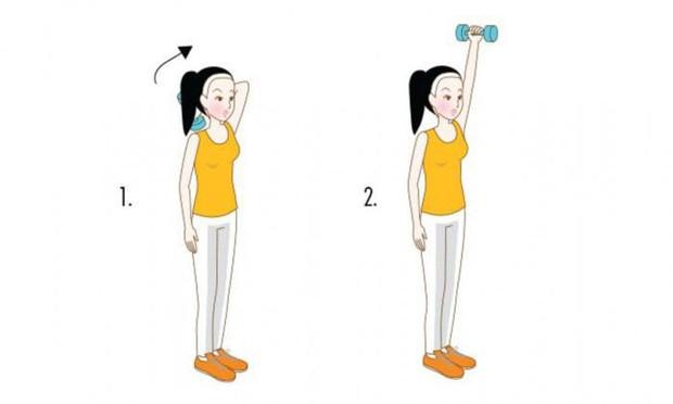 Bắp tay nhỏ gọn lại rõ rệt nếu thực hiện 4 động tác đơn giản sau đây thường xuyên - Ảnh 4.